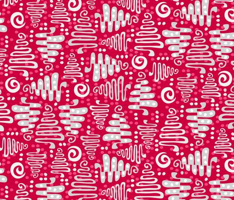 silver tree ornaments fabric by jill_o_connor on Spoonflower - custom fabric