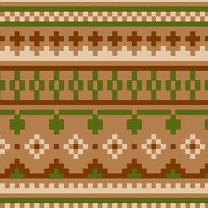 winter knit beige brown green