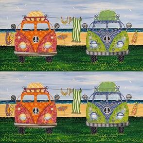 Hippy Vans Beach Life