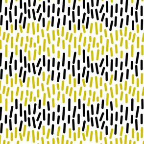Dots and lines (yellow and black)