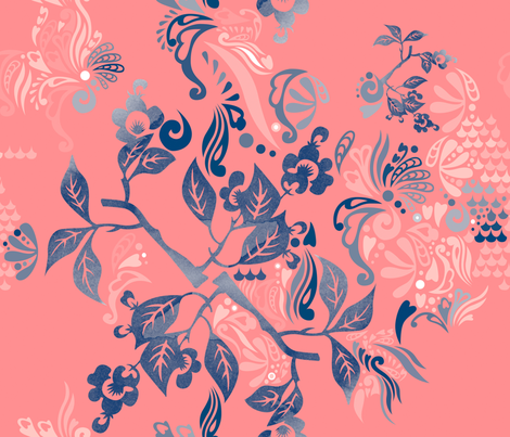 Oriental-Ornamental fabric by owlsquirrel&twobirds on Spoonflower - custom fabric