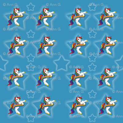 Rainbow Ponies Blue