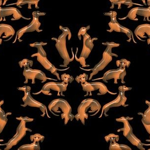 Doxie Damask Wood 1