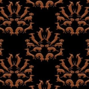 Doxie Damask Wood 2