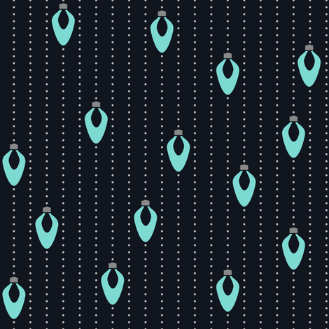 Aqua Lights on Night fabric by juliesfabrics on Spoonflower - custom fabric