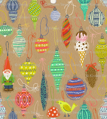 Ornaments on Craft Paper