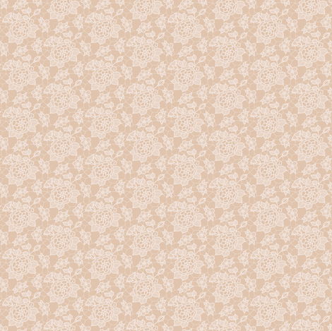 cream lace flower on mocha - mini fabric by victorialasher on Spoonflower - custom fabric