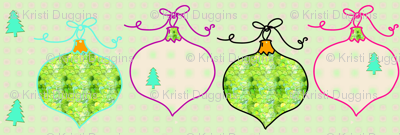 Christmas Tree Ornaments | Green and Cream