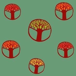 circle trees autumn