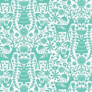 Nordic Reindeer - Turquoise