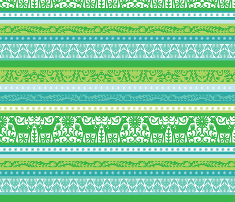 Nordic Stripe - Lime fabric by emilydyerdesign on Spoonflower - custom fabric