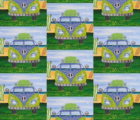 Hippy Van Blue fabric by lisa_frances_judd_ on Spoonflower - custom fabric