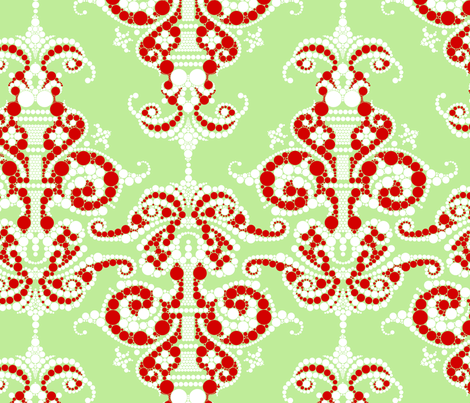 Putting a point on it - Christmas fabric by thirdhalfstudios on Spoonflower - custom fabric
