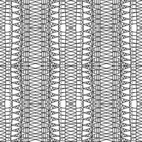 Snake Skin Line Drawing