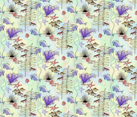 Under_da_Sea_on_Coord_3 fabric by art_on_fabric on Spoonflower - custom fabric