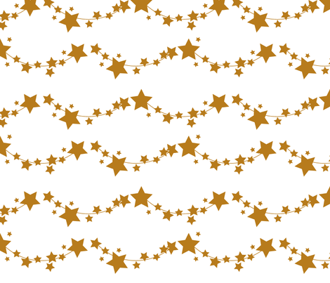 Golden stars fabric by newmomdesigns on Spoonflower - custom fabric