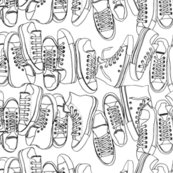 All-Stars (Color-Your-Own) || sneakers tennis shoes fashion sports converse geek chic punk emo