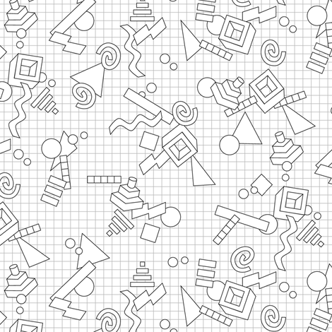 Geekometric (Color-Your-Own) || coloring book 80s retro geometric ...