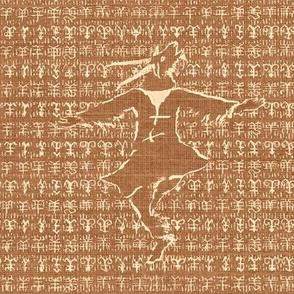 Goat Dancer, terra-cotta