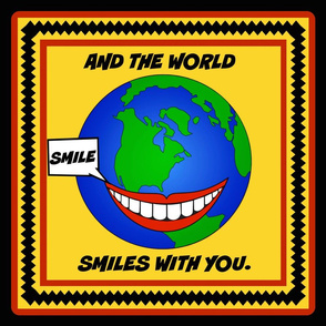 "Smile 18"" pillow top"