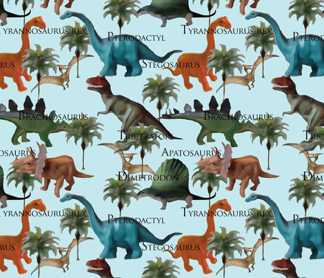 Dinosaurs Dinosaurs! fabric by lauriekentdesigns on Spoonflower - custom fabric