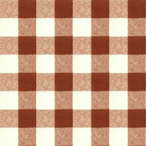 """1"""" Wool Buffalo Check in Brick Red"""