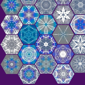 Snowcatcher Rainbow Lightning Hexies