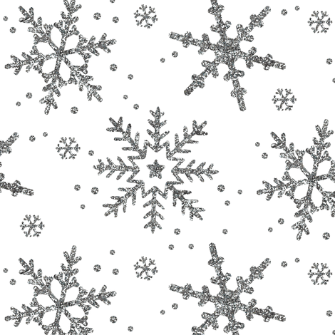 Snowflake Shimmer on White fabric by willowlanetextiles on Spoonflower - custom fabric