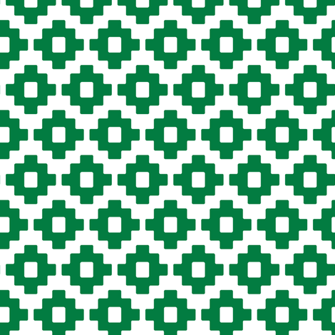 aztec in green fabric by littlearrowdesign on Spoonflower - custom fabric