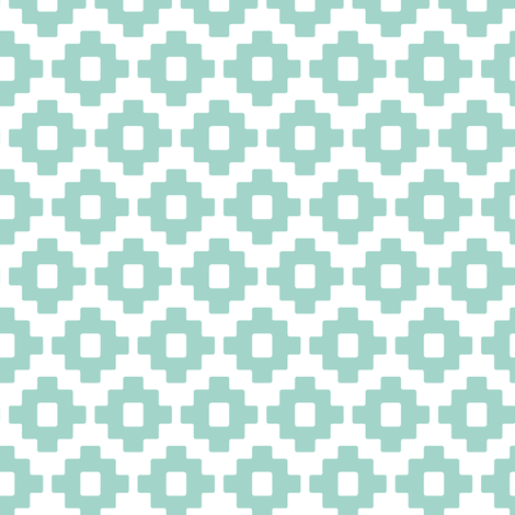 aztec in blue fabric by littlearrowdesign on Spoonflower - custom fabric