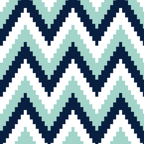 rick rack // blue fabric by littlearrowdesign on Spoonflower - custom fabric
