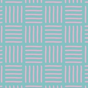 Tribal baby pink on teal