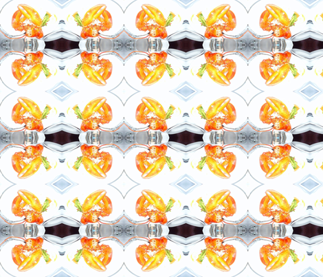 Lobster for dinner fabric by kjs_mom on Spoonflower - custom fabric