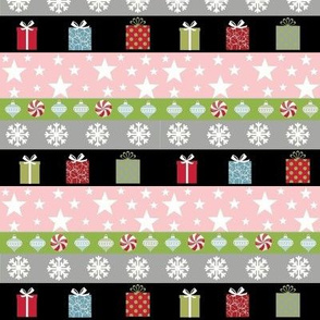 Holiday Gifts Stripes -pink