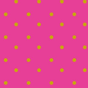 Gold Dots-Hot Pink