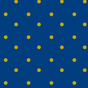 Gold Dots-Navy
