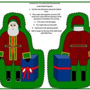 Presents For You Victorian Santa Cut and Sew Doll
