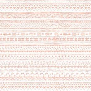 Aztek Pencil Doodle in Salmon