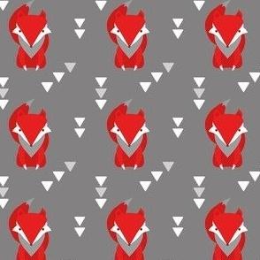 Red Fox Geometric Tribal