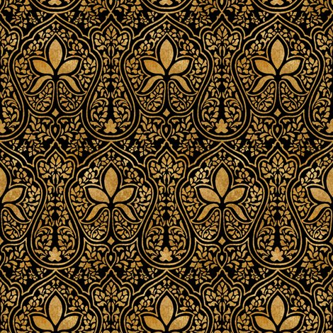 Rrajkumari___black_and_gilt_gold___batik___peacoquette_designs___copyright_2014_shop_preview