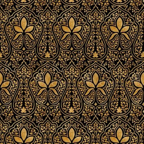 Rajkumari ~ Black and Gilt Gold ~ Batik