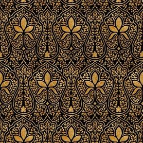 Rajkumari ~ Black and Gilt Gold ~ Batik