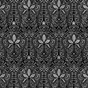 Rajkumari ~ Black and Silvered ~ Batik