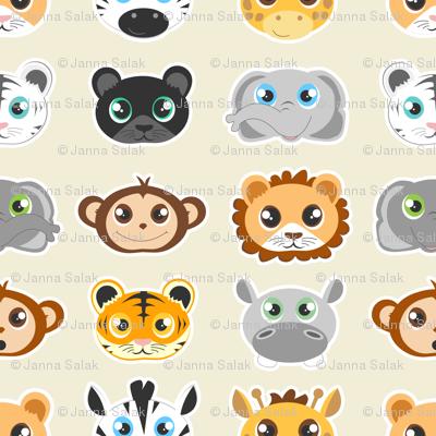 Cute Jungle Animals Pattern