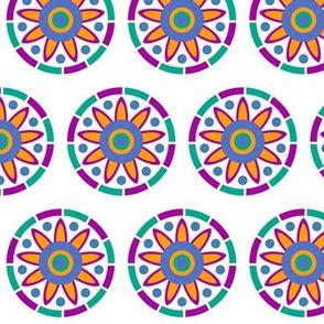 Color sun flower