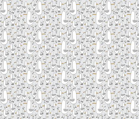 Gulls (lt. grey + gull grey) fabric by pattyryboltdesigns on Spoonflower - custom fabric