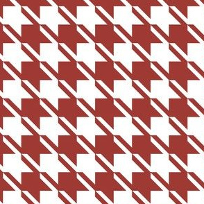 Houndstooth Dark Red