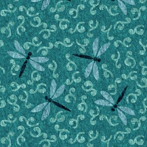 ditsy-w-dragonflies-textures7x9-150-2in-clouds-stoneinlay-mgrnpersia-hardltpersia