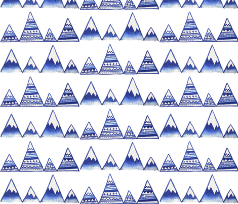 Mountain Tops fabric by hexo on Spoonflower - custom fabric