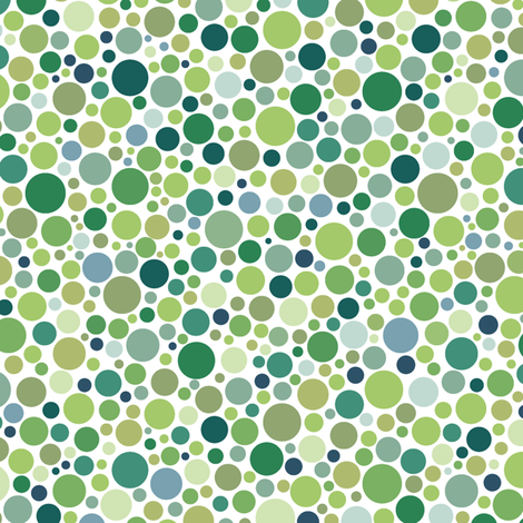 ishihara coordinate - solid greens fabric by weavingmajor on Spoonflower - custom fabric